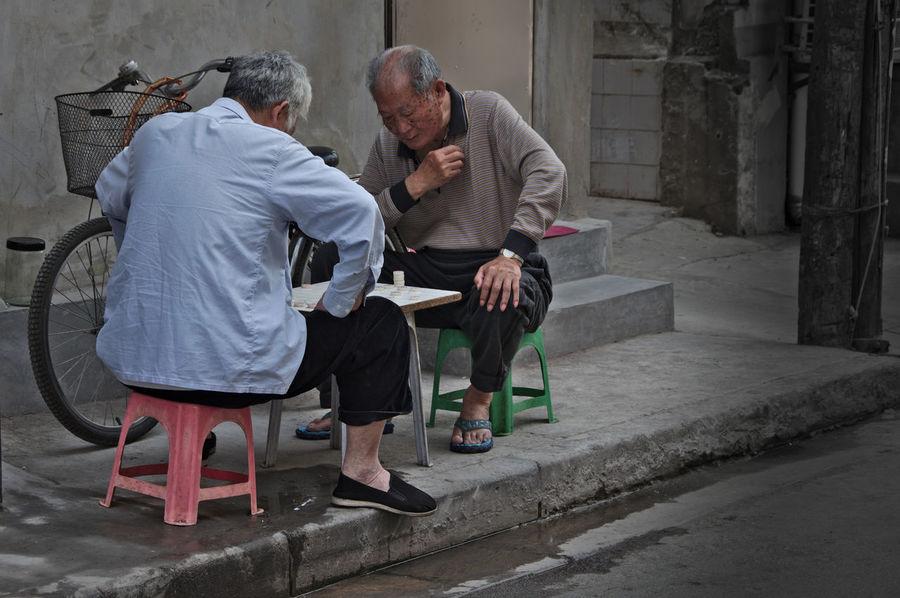 Shanghai Streets Shanghai, China Board Game Men Senior Adult Senior Men Street Photography Two People