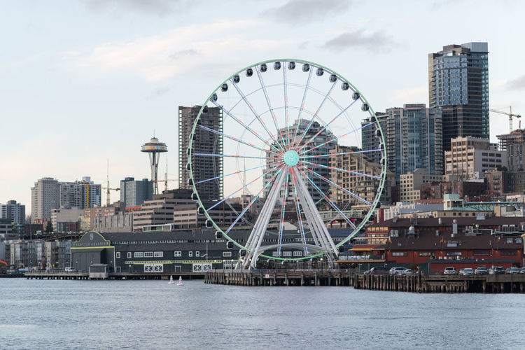 Elliott Bay Seattle Seattle Skyline Seattle, Washington The Graphic City Colour Your Horizn