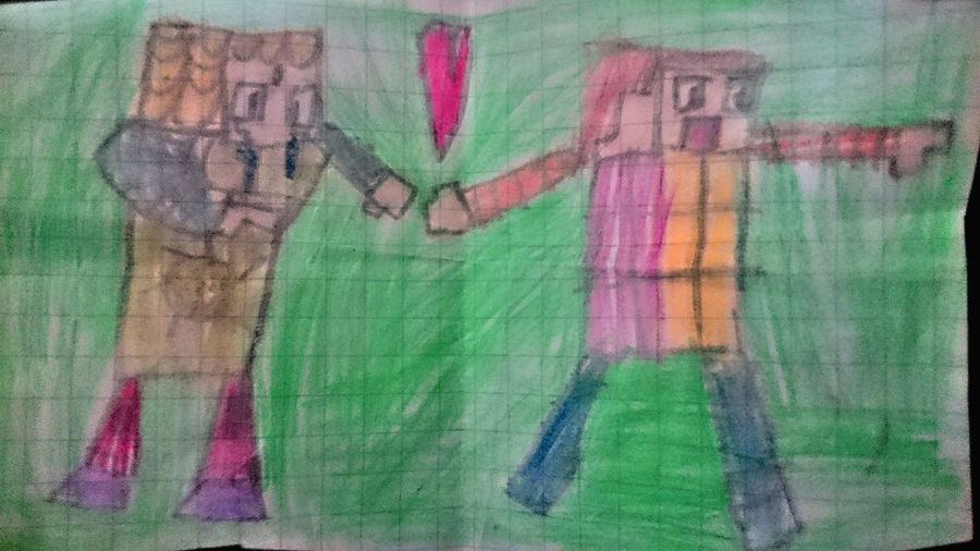 by Little bto Burak Alp https://www.youtube.com/channel/UCoOpDZp-BO3PNNN1vFYPMRQ A Backgrounds Burakalp Close-up Day Drawing - Art Product Heart Love Minecraft Multi Colored Seven Turkey