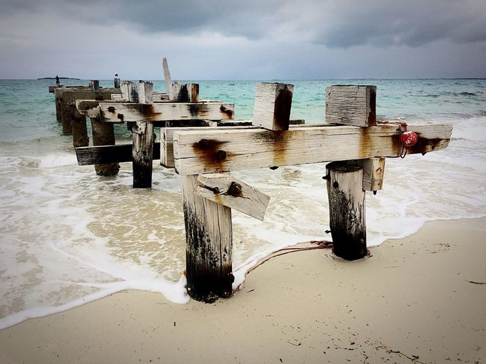 Australia Landscape EyeEmNewHere Still Standing And Strong Broken Wood Old Pier Posts Pier Ruins Post Wooden Post