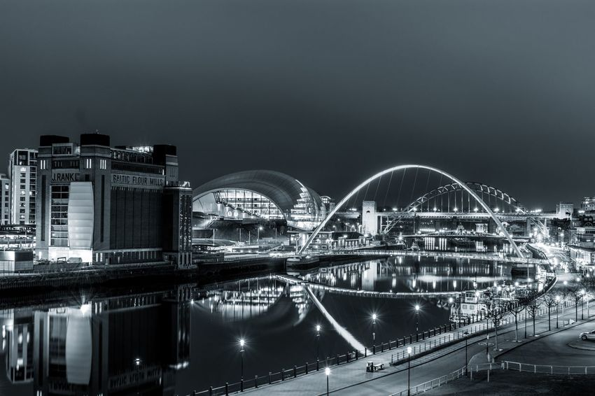 View of the tyne Tynebridge  Newcastle Newcastleupontyne Rivertyne Gateshead Quayside Newcastlequayside Photography Photooftheday Bridge - Man Made Structure River Black & White Riverside River View Bridge Black And White Blackandwhite Tynebridgeview Newcastlelife Northeast Tyne Tyneside Travel Night Arts Culture And Entertainment Illuminated Travel Destinations Nightlife No People City Sky Water Cityscape Architecture Outdoors EyeEmNewHere Stories From The City