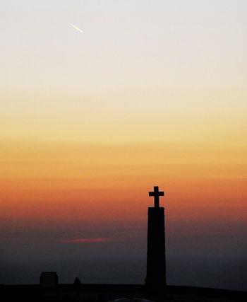 EyeEm Best Shots Travel Sunset Silhouette Orange Color No People Cross Spirituality