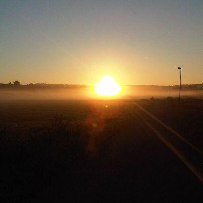Bei Sonnenaufgang nach Osten