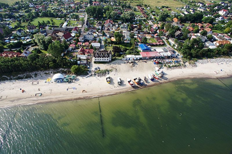 High Angle View Of Baltic Sea Shore