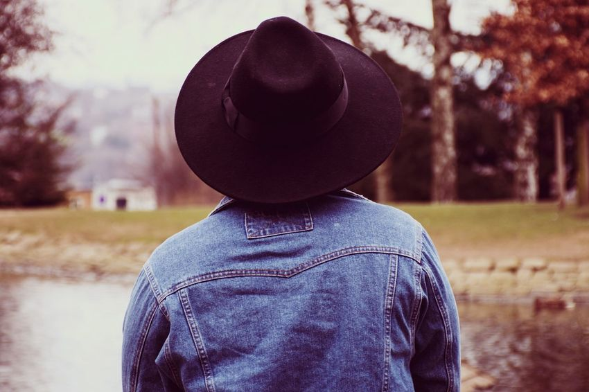 Rear View Hat One Person Standing People Tree Outdoors Nature Adult Adults Only One Man Only Day Young Adult Only Women Women One Woman Only Standing Real People Beauty Nature Beauty In Nature Adult Close-up Rear View Water