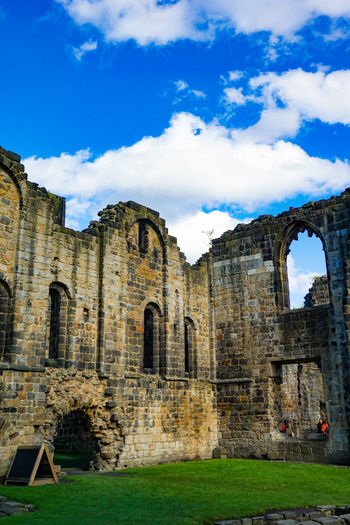 Kirkstall Abbey in Leeds, West Yorkshire, England History Architecture The Past Built Structure Sky Cloud - Sky Building Exterior Arch Ancient Old Ruin Nature Day Old Grass Building Damaged No People Travel Destinations Travel Abandoned Outdoors Ruined Ancient Civilization Deterioration Abbey England Uk Attraction Travel Destination Tourist