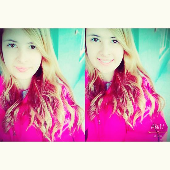 Hi! That's Me Hello World Cheese! Fashion Hair Selfie Sarışın Pink