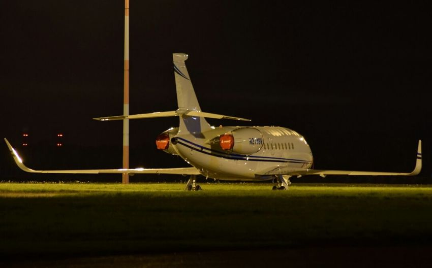 A Private Jet after Landing - Touching Down at DSA Robin Hood Airport. Airplane Travel Air Vehicle Aerospace Industry Flying Airport Runway Night No People Black Background Cockpit Outdoors Aviation Runway Aviationphotography Nikonphotography Illuminated Vacations Nikonphotographer