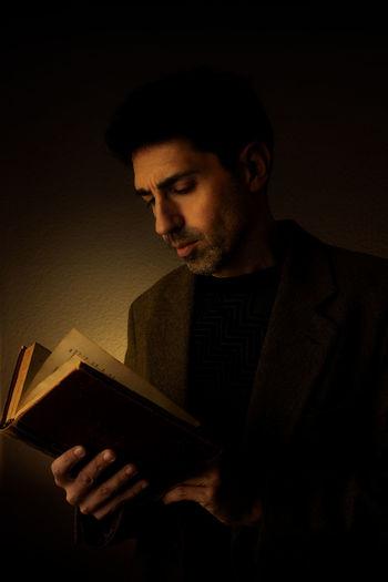 Man reading an