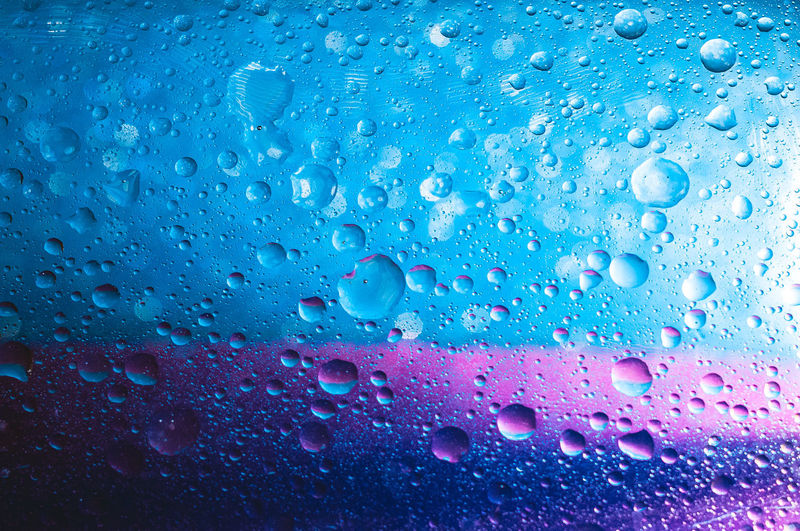 Close-up of raindrops on window