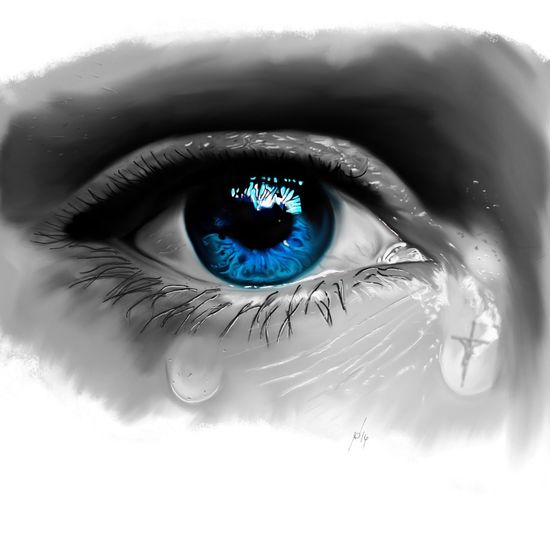 Ipad Digital Painting Painting Procreate Drawing Sketch Eyes Jesus Art ArtWork