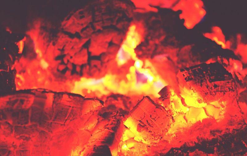 Bronze Fire Hot Orange Combustion