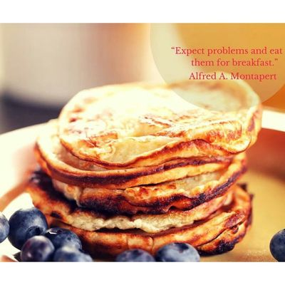 "Be a Boss . ""Expect Problems and eat them for breakfast."" Leadership Quote"