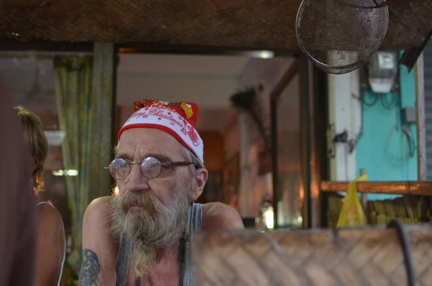 At The Bar Beard Christmas Close-up Day EyeEmNewHere Eyeglasses  Old Man Portrait Real People Senior Adult Senior Men Thailand Tranquility Travel TCPM Art Is Everywhere The Photojournalist - 2017 EyeEm Awards BYOPaper! The Portraitist - 2017 EyeEm Awards The Street Photographer - 2017 EyeEm Awards Second Acts Love Yourself