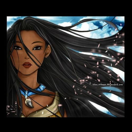 Kudos to whoever created this ~ project 4 :D Stenciling Amateurartist Pocahontas  Nativeamerican  Princess Heroine History