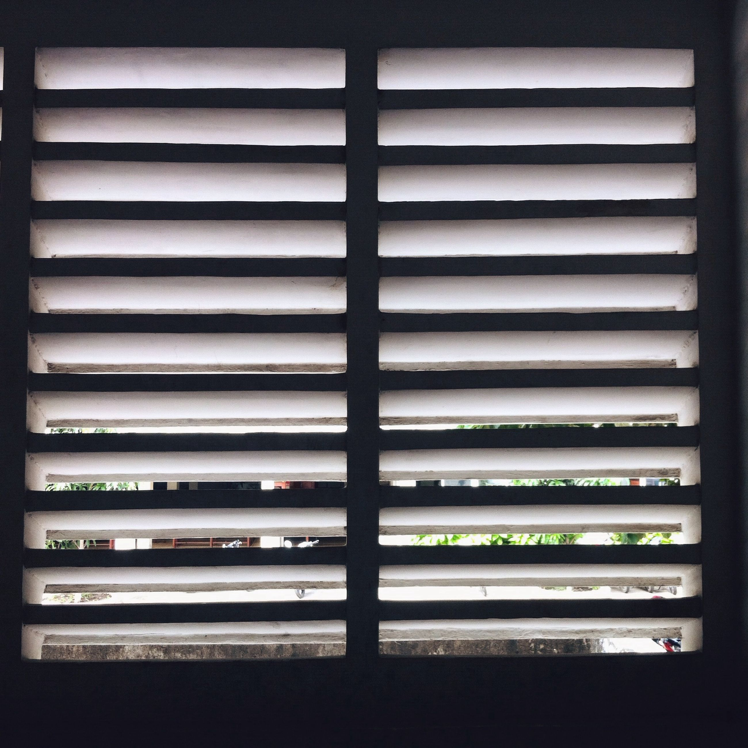 transfer print, full frame, indoors, backgrounds, window, repetition, pattern, in a row, auto post production filter, blinds, close-up, no people, closed, order, side by side, glass - material, day, design, white color, detail