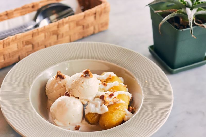 EyeEm Selects Food And Drink Freshness Ice Cream Dessert Plate Banana Sweet Coconut Milk Cold Cool Asian  Tradition And Culture