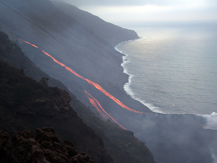 Aerial View Geology Mountain Physical Geography Power In Nature Rock Rock - Object Rock Formation Top Perspective Stromboli Volcano Stromboli Mediterranean Sea Island Eolie Islands Eolian Islands Volcano Lava Rocks Sciara Sciara Del Fuoco
