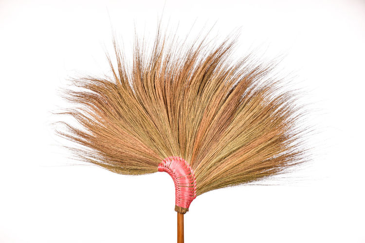 broomstick isolated on white background. Cleaning Housework Broom Broomstick Broomstickselfie Brush Close-up Day Nature No People Outdoors Studio Shot White Background