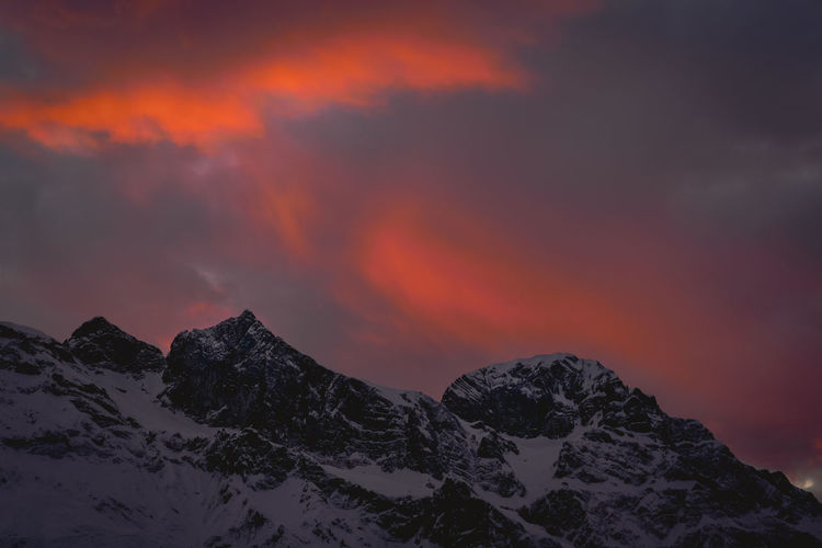 January Beauty In Nature Cloud - Sky Clouds And Sky Cold Temperature Engelberg Mountain Nature Outdoors Sky Snow Sunset Swiss Alps Switzerland Weather Winter