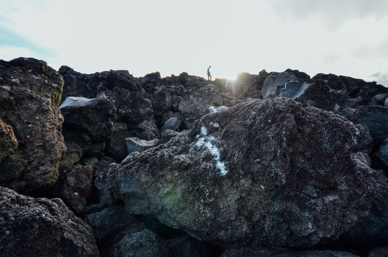 Rock Solid Nature Rock Formation Textured  Rough Outdoors Formation Eroded Volcano Volcano Landscape Adventure Up To The Top Upwards Sign Arrow Symbol Arrow Symbol Direction Keep Going  Keep Out Philippines Mayon Volcano Wanderlust