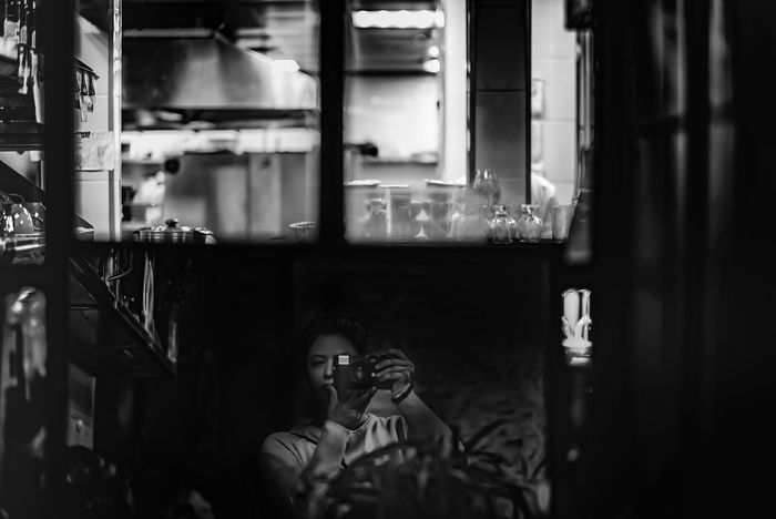 Sous-chef Real People One Person Indoors  Restaurant Portrait Selfie Self Portrait Moscow Russia Chef Sous-chef Blackandwhite Leica M9-P A New Perspective On Life Holiday Moments Capture Tomorrow