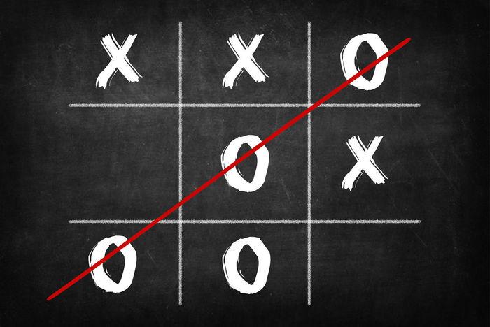 Blackboard  Game Oxo Xox