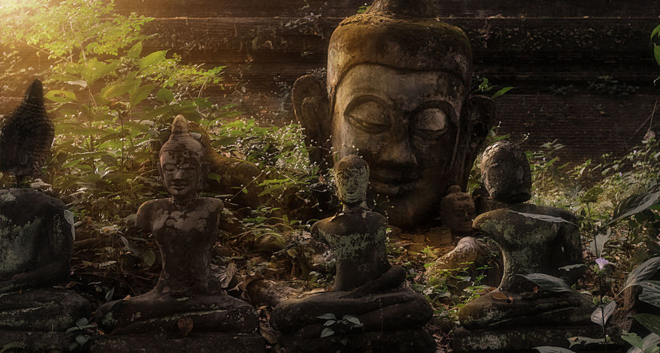 วัดอุโมงค์ (สวนพุทธธรรม) Sculpture Art And Craft Statue Representation Creativity Religion Ancient Civilization Thailandtravel Buddha Statue
