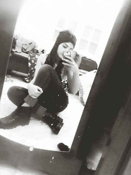 Messy Room Messy Life Messy Me Hello World Black & White Grunge GrungeStyle