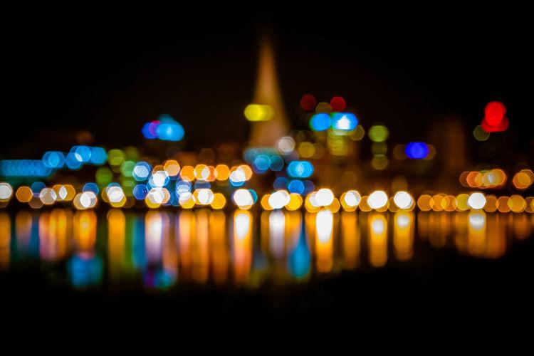 Defocused illuminated lights