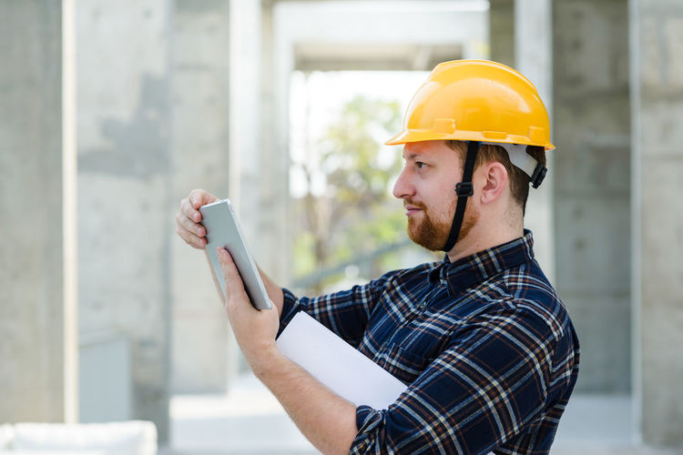 Man working with smart phone