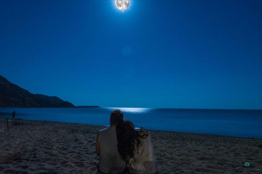 Greece Couple Love Beach Nature Beautiful Moon Night Hello World Popular Photos
