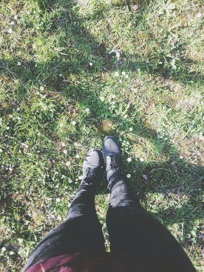 Spring Green Walking Around Relaxing Nature Grass Legs Moss Garden Countryside