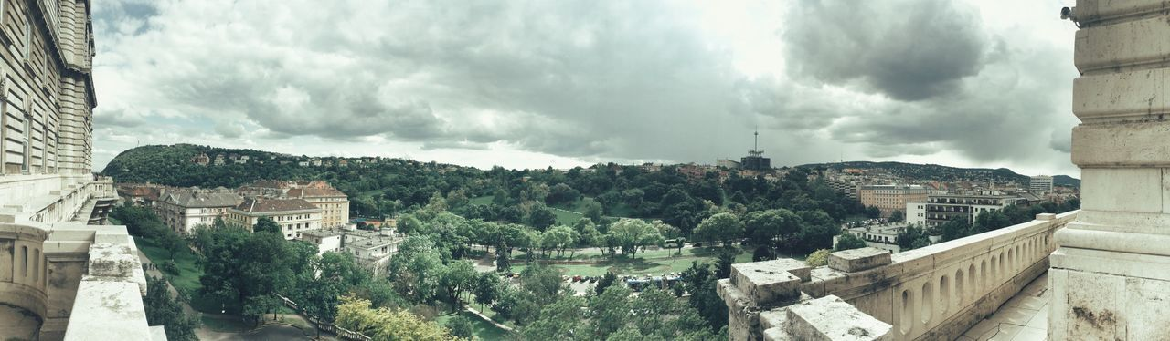 IPhoneography Iphone 6 Panoramic Photography Iphone Panorama Panorama Green EyeEm Landscape EyeEm Best Shots - Nature Budapest, Hungary Castle View Naphegy Gellért Hegy Gellerthill Budapest Buda Budapest Castle Dramatic Sky Cloud - Sky Low Color