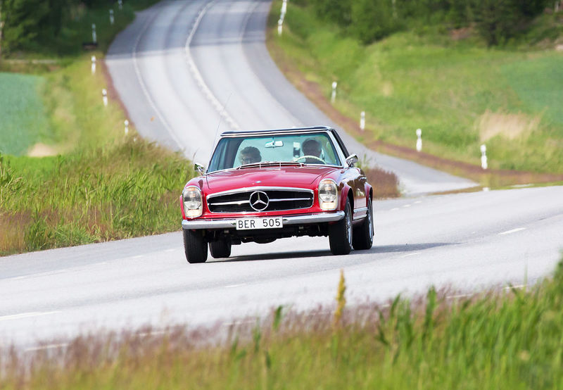 Mercedes car Beautiful Classic Classic Cars Day Driving Interesting Joy Joy Ride; Old Outdoors Pleasure Red Road Rual Speed Sports Car Transportation Travel Vehicle