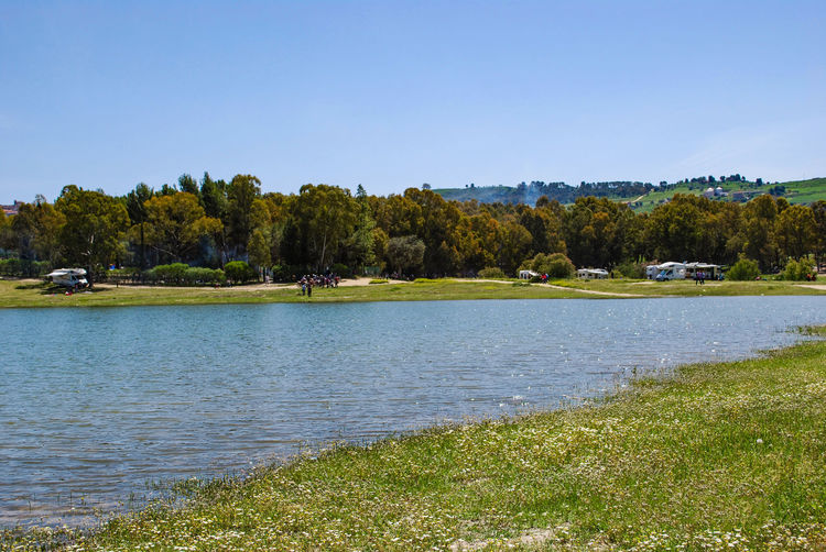 Regalbuto Sicily Artificial Lake Beauty In Nature Clear Sky Day Italy Lake Nature Outdoors Pozzillo Scenics Sky Tranquil Scene Tree Water Waterfront