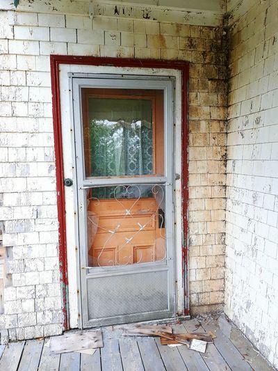 Window of abandoned house