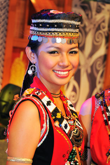 Portrait of a young Bidayuh woman of Borneo wearing traditional costume Adult Beautiful Woman Beauty Bidayuh Borneo Cultures Female Happy Headshot One Woman Only Pageant People Portrait Sarawakian Smile Smiling Toothy Smile Traditional Clothing Tribe Women Around The World Young Woman The Portraitist - 2017 EyeEm Awards This Is My Skin