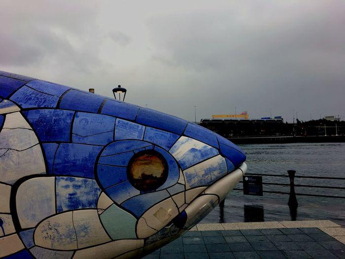 The big fish, Belfast Belfast Northern Ireland The Big Fish Harland&Wolff Harland And Wolff River Lagan Belfast City Water Bird City Sky