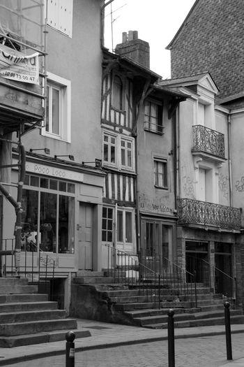 Architecture Balcon Balcony Built Structure City Life Colombages Day Escaliers Etroit Exterior Façade Façade Low Angle View Rennes Rue Urban Vieux Window
