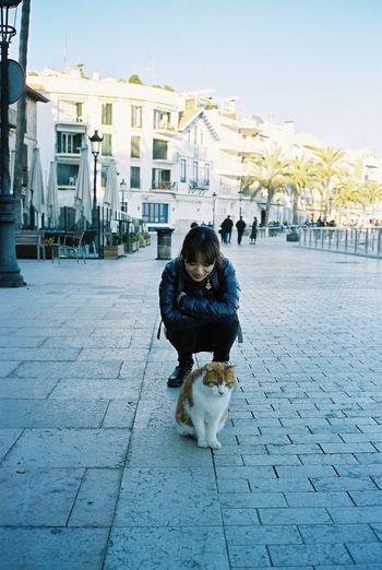 Contax T3 Kodak Portra 35mm Film Film Sitges Cat EyeEm Animal Lover Streetphotography Portrait