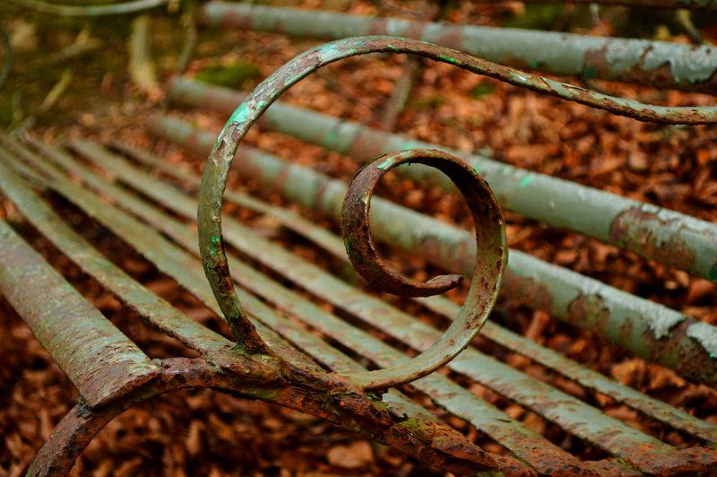 Autumn Bench Curl Falls Of Tarnash Metal Old Outdoors Rusty Scotland EyeEmNewHere