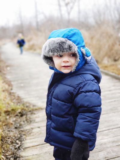 Children on a chilly nature walk