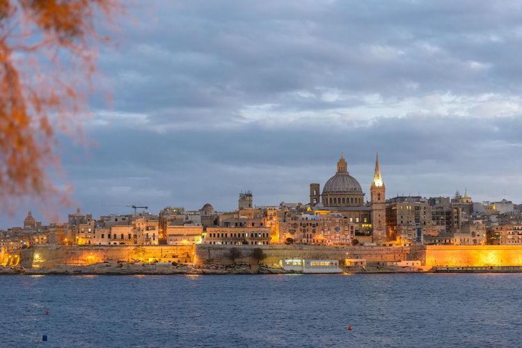 Different view of the Valletta skyline Cloud - Sky Architecture Building Exterior Built Structure Sky Building Travel Destinations Travel Nature City Outdoors Waterfront Religion Tourism Valletta Valletta,Malta Valletta European Capital Of Culture 2018 Valletta Architecture Malta Maltaphotography Cityscape cityscapes Travel Photography Travelling Harbour View Water No People River Place Of Worship Government