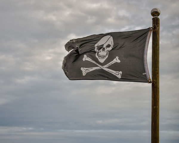 Jolly Roger Check This Out Pirate Flag Beach Cloud - Sky Flag Jolly Roger Micro Nikkor 40mm Wind