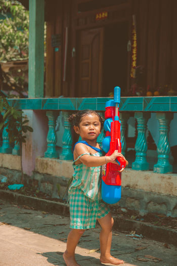 'Yama these days' Model Vicious Diva Child Childhood Portrait Smiling Human Hand Happiness Standing Girls Outdoor Play Equipment Garden Hose Watering First Eyeem Photo EyeEmNewHere