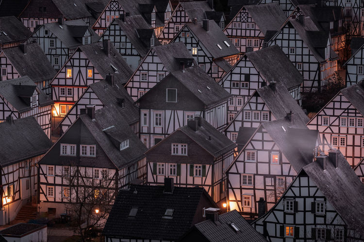 Freudenberg in germany, famos old town with half timbered houses