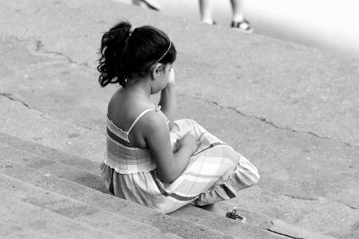 Taking Photos Littlegirl Cute Monochrome Blackandwhite Children Back