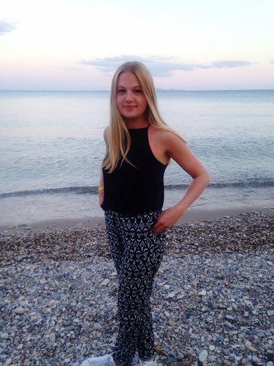 Girl Summer Greece Beach Blonde Ocean View Life
