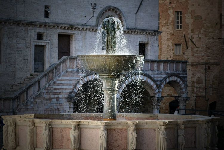 Water is the source of life Glistening Droplet Glistening Water Capture A Moment Water Drops Fountain Perugia Italy Architecture Built Structure History No People Travel Destinations Castle Water